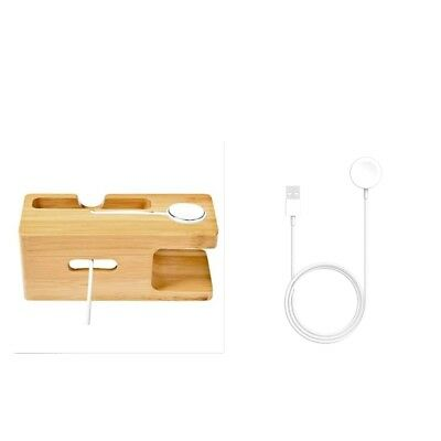 For Apple Watch 2/3 iWatch 38/42mm Magnetic Charger Charging +Bamboo Holder