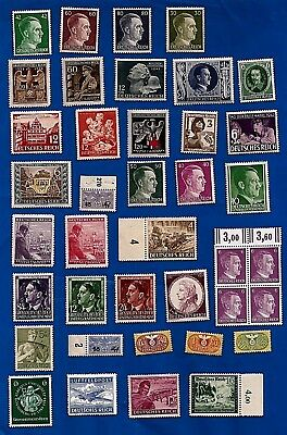 39 Nazi Germany Third 3rd Reich + NAZI B&M WW2 era postage stamps MNH **