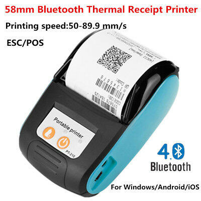 58mm USB Mini Wireless Bluetooth Thermal Receipt Ticket Printer For Android iOS