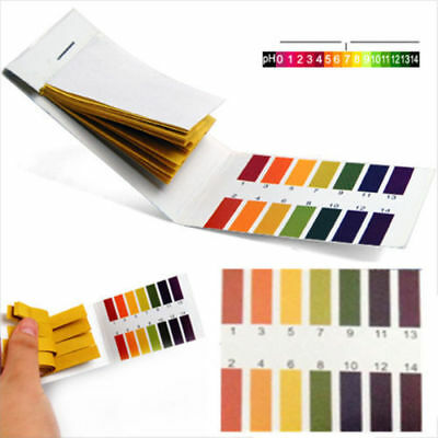 Useful 80 PH Test Strips Full Range 1-14 Paper Litmus Tester Lab Indicator Urine