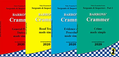 Barron's police promotion crammer books 20189