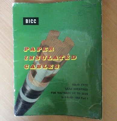 BICC Paper Insulated Cables Brochure 1966