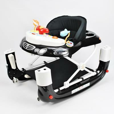 Sturdy Sport Car Baby Walker 4in1 with Toys Plus Push Stand and Walk with Handle