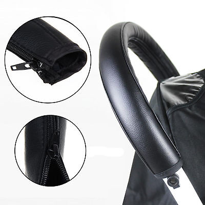 Portable PU Anti-slip Handle Bar Cover for Babys Pushchairs/Prams/Stroller/Buggy