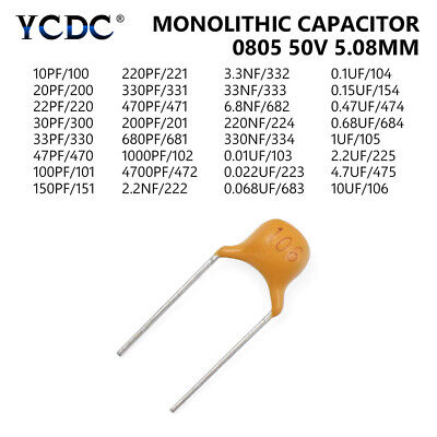 20Pcs/Lot 50V 10pF-10uF Multilayer Ceramic Capacitor Assorted Kit Wholesale 1B4