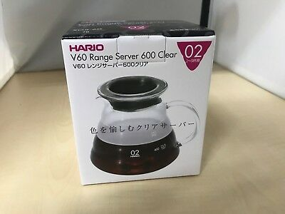 HARIO V60 range server coffee drip 600ml clear XGS-60TB