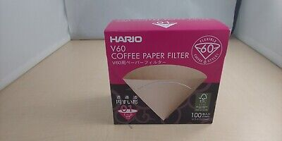 HARIO Paper filter for V60 100sheets for 1 to 2cups Boxed show only VCF-01-100MK