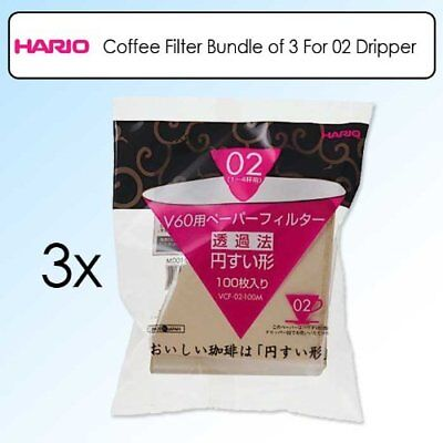 Paper filter for Hario V60 For bleaching 1-4 cups (100sheets / 3bags VCF-02-100M