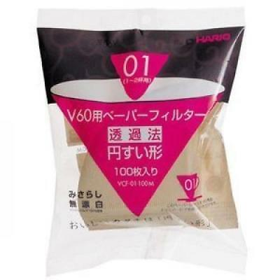 Hario V60 paper filter No bleaching 1/2 cups 100 sheets / 3 bags VCF-01-100M