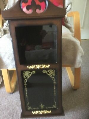 wooded clock CASE only attic find large clock case plus clock face ....