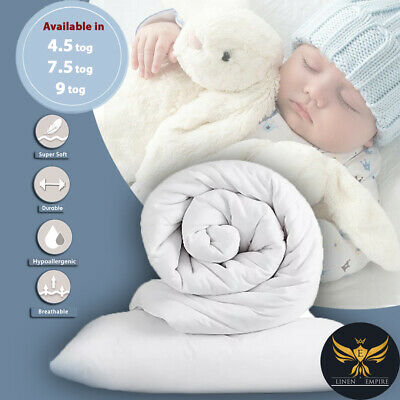 New Top Quality Anti-Allergenic Toddler Baby Cot Bed Duvet Quilt 4.5 7.5 & 9 Tog