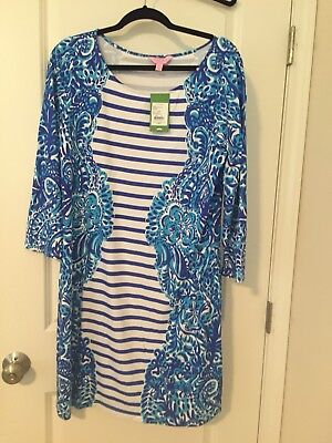864b920d44811b NWT LILLY PULITZER Nila Dress Brilliant Blue Moon Jellies XL ...