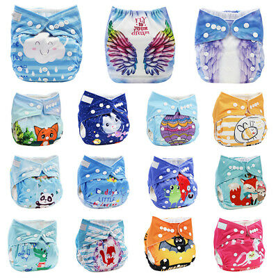 Baby Cloth Diapers One Size Adjustable Washable Reusable for Boys Girls
