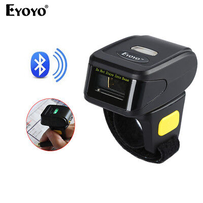 Finger Wearable Bluetooth Barcode Scanner Bar Code Reader For Apple IOS Samsung