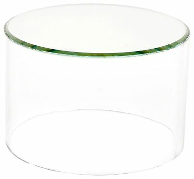 """Plymor Brand Clear Acrylic Cylinder Display Riser w/Mirror Top, 2"""" H x 3"""" D New"""