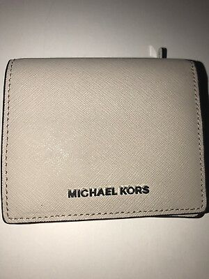 320a592c568c Michael Kors Money Pieces Flap Card Holder Mini Wallet in PEARL GREY