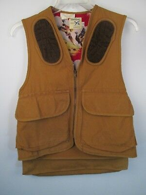7c1dc2be9f63b Vintage CARHARTT Super Dux Bird Hunting Vest Flannel Lined Mens Size S  Shooting