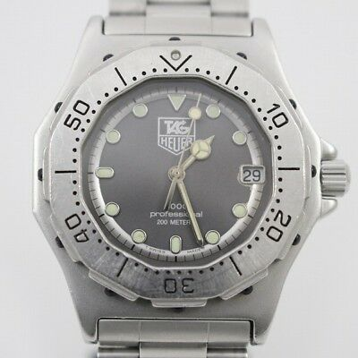 97a3e71f315a Tag Heuer Professional 3000 series 932.213 Quartz Silver dial Stainless  steel