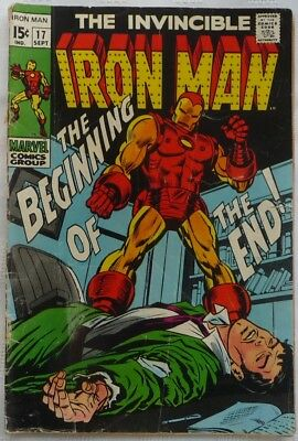INVINCIBLE IRON MAN 'The Beginning Of The End!' Original Sept. 1969 Marvel Comic