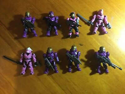 8 spartan figures halo Mega Bloks with weapons