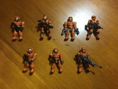 7 spartan figures halo Mega Bloks with weapons