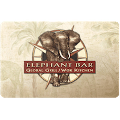 Elephant Bar Gift Card $50 Value, Only $45.00! Free Shipping!