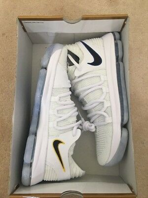 buy online 0343f 87a46 Nike Zoom KD10 X Mens Basketball Shoes 897815 101 Warriors Size 11