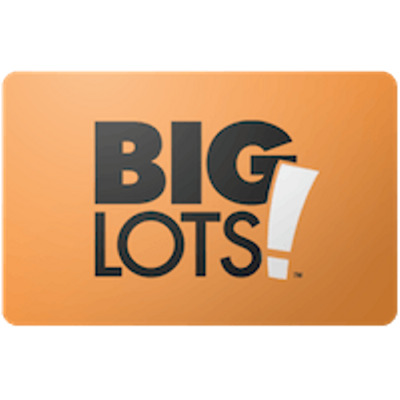 Big Lots Gift Card $100 Value, Only $93.00! Free Shipping!