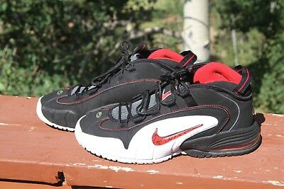 2007 NIKE AIR Max Penny 1 One Chicago Bulls Black White Red Rare 311089 061 sz10
