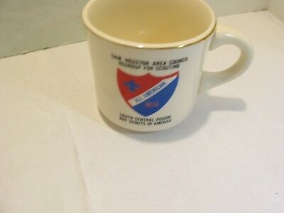Bsa Boy Scouts Coffee Mug Cup 1974 All American Sam Houston Area Council