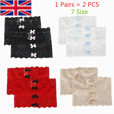 1 Pair Non-Slip Lace Elastic Sock Bowknot Thigh Bands Prevent Thigh Chafing Sock