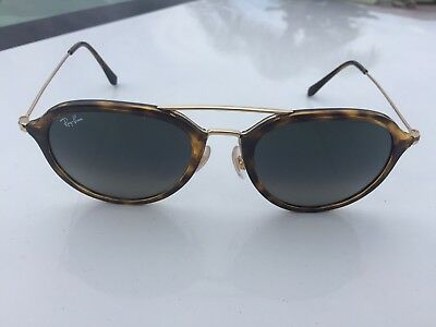802261a23a USED RAY BAN RB4253 710 8B 53-21 145 8p Tortoise and Gold frames w ...