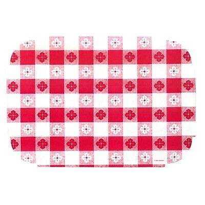 Red Gingham Paper Placemats - 9.75 x 14 inches (25) 25 New