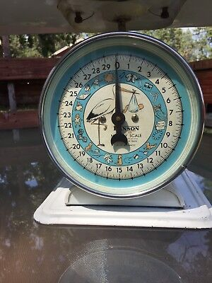 Antique 1940's Hanson Baby Infant Weight Scale Nursery Scale model #3025
