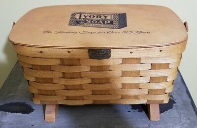 Peterborough Basket Co. 150th Anniversary Ivory Soap Advertising Basket Preowne