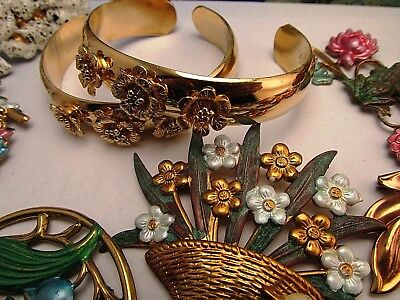 Vintage wholesale lot of Hand Crafted Jewelry lots European Art Nouveau Style #2