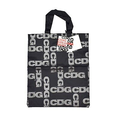 a7287ae92022 NWT Comme des Garcons Breaking News CDG Logo Black Nylon Tote Bag 2018  AUTHENTIC