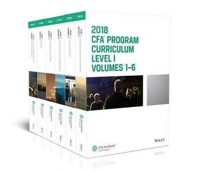 CFA Program Curriculum Level I:Volumes1-6 Box Set (CFA Curriculum 2018) exam