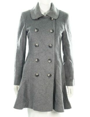 5523b8ed098 Helene Berman London Women s Wool Blend Gray Peacoat Overcoat sz S  348