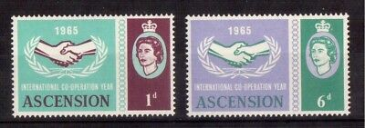 Ascension 1965 Set Mint Nh # 94/95, International Cooperation Year Issue !!
