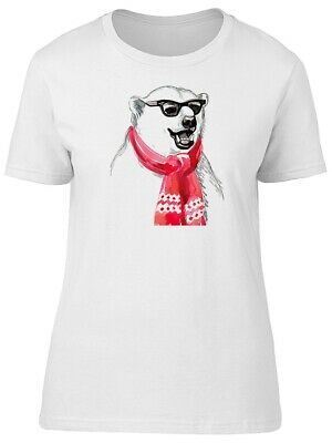 Cool Polar Bear With Red Scarf Women's Tee -Image by Shutterstock