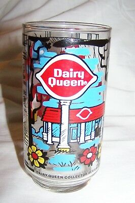 Colorful 1976 Dairy Queen Collector Series Cartoon Glass