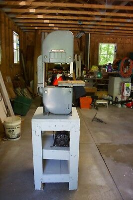 Vintage Delta Rockwell Home Craft  Band Saw with 1/3 HP Wards Motor and Stand