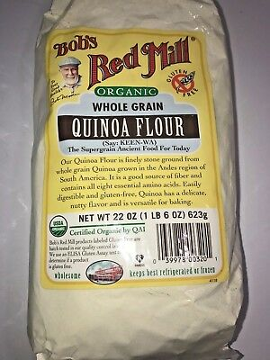 Bob's Red Mill Organic Quinoa Flour 22 oz (623 g) Pkg Lot of 2