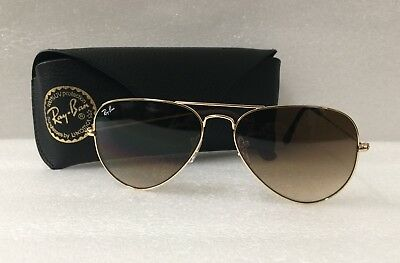 3e8ce9b3c7 sweden ray ban classic aviator rb3025 001 51 arista gold frame brown  gradient lens 58mm 8534d