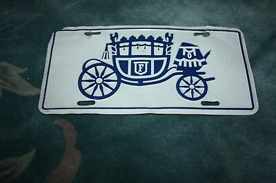 Vintage General Motors Fisher Body Division Front License Plate Tag