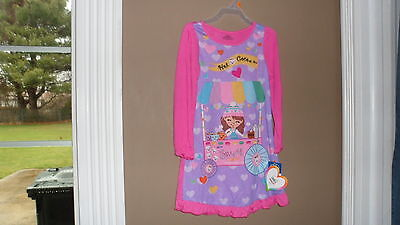 """Girls Nigtgown  4T """"sweet Hot Cocoa """"  Polyester Pinkw/picture Nwt"""