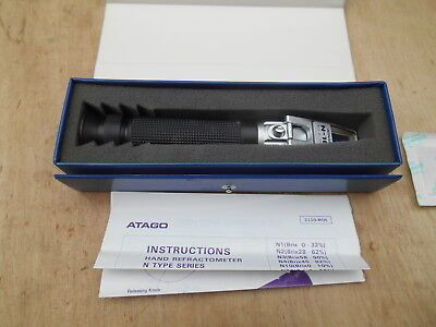 ATAGO Hand Refractometer N-10 , WITH INSTRUCTIONS