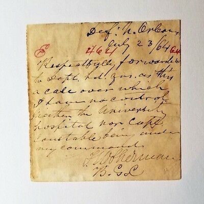 General Thomas W Sherman War-Date Signed Note 2015 Historic Autograph Appomattox