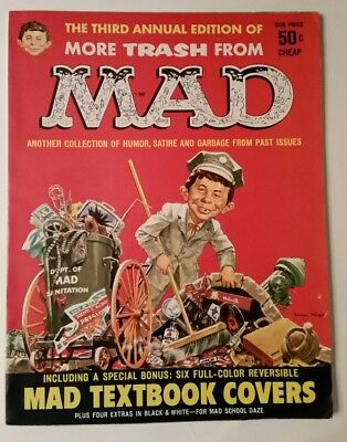 MORE TRASH FROM MAD - #3 ANNUAL 1960 Plus BONUS MAD Textbook Covers FN/VF 7.0